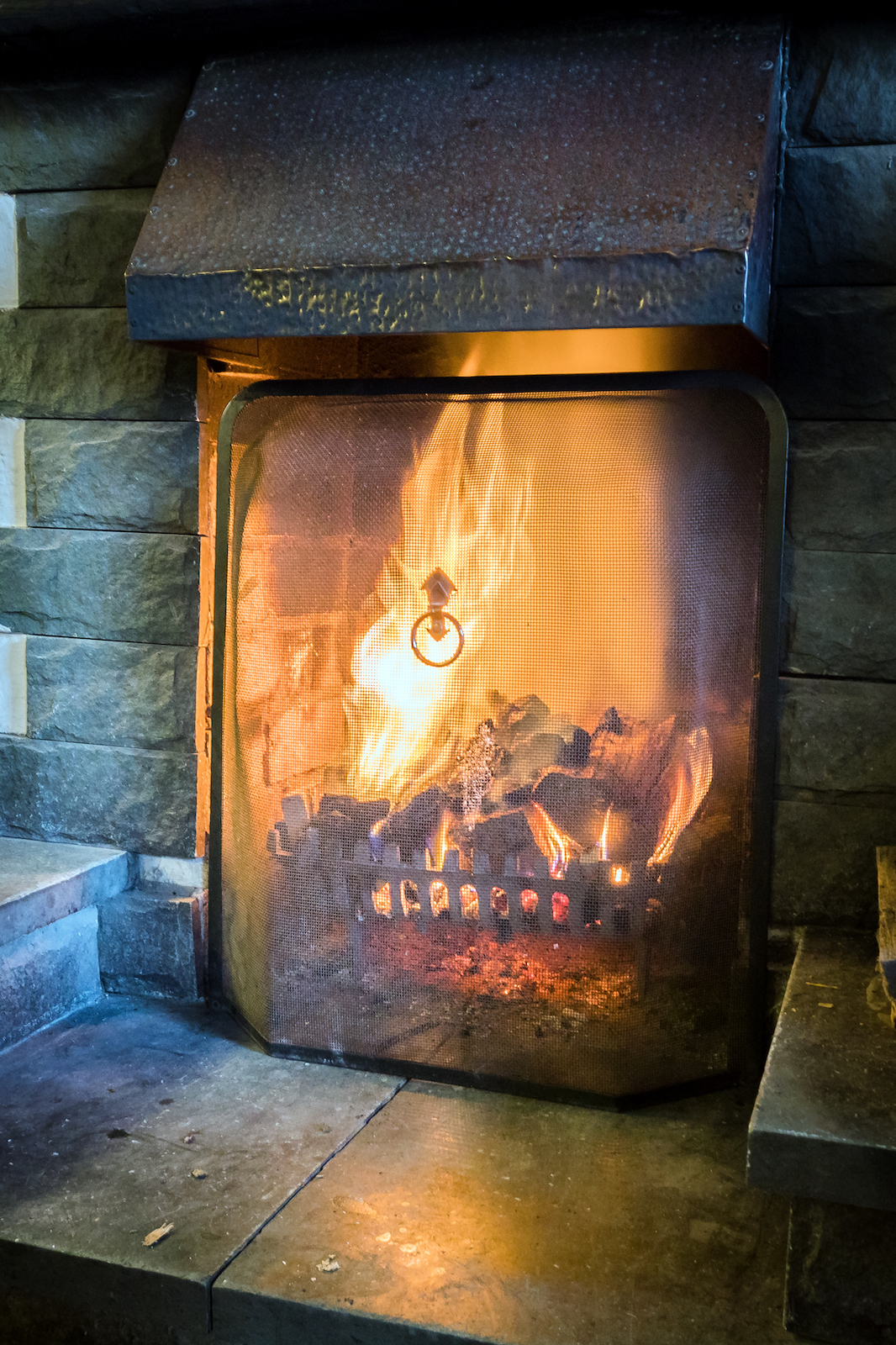 Fireplace at The Britannia Inn, Elterwater